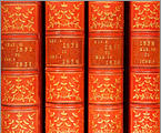View of the Esher book spines