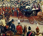 A painting depicting Queen Victoria's diamond jubilee