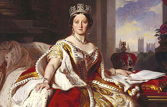 Queen Victoria in Coronation robes.